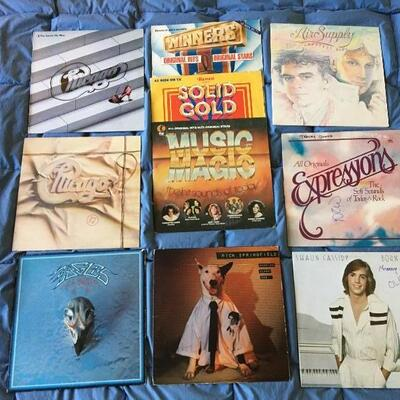 Vintage LP Record Album Collection of 10 with Eagles, Rick Springfield and more...