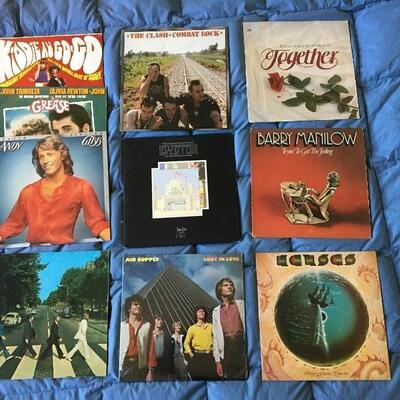 Vintage LP Record Album Collection of 10 with Beatles, Zeppelin and more...