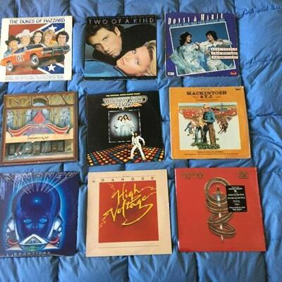Vintage LP Record Album Collection of 9 with Journey, Styx and more...