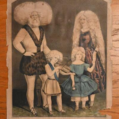 Albino family illustration by Currier & Ives