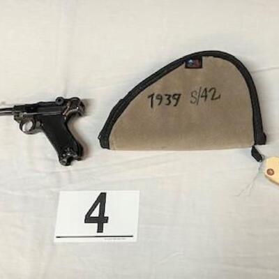LOT#4: Mauser P.08 Luger 9mm S42