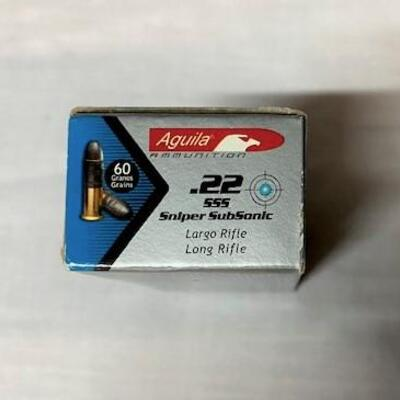 LOT#23: Aguila 22LR Subsonic