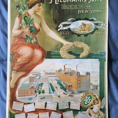 Vintage 11 x 15 Beer Poster LIEBMANN'S SONS BREWERY New York