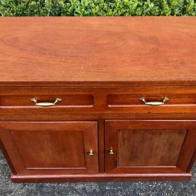 Vintage Wood Buffet Side Board Cabinet YD#020-1220-00005