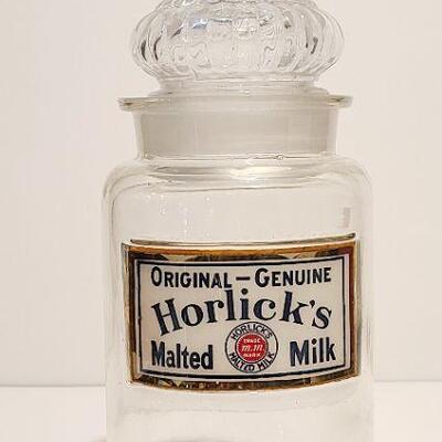 Lot 133: Horlicks 1920s Apothecary Malted Milk Glass
