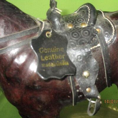 Lot 9 - Leather Covered Horse