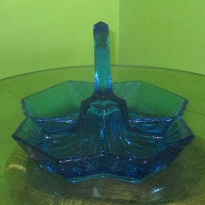 Lot 22 - Blue Glass Candy Dish