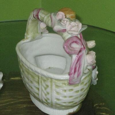 Lot 24 - Cherub Bowl and Planter