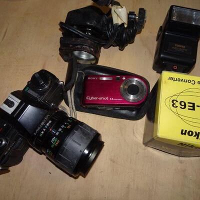 Vintage Minolta x370s, Sony Cyber-shot, & Misc.