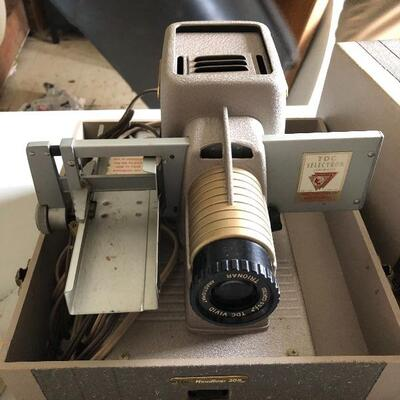 Vintage Working TDC Vivid Selectron Deluxe Model D Projector Art Deco