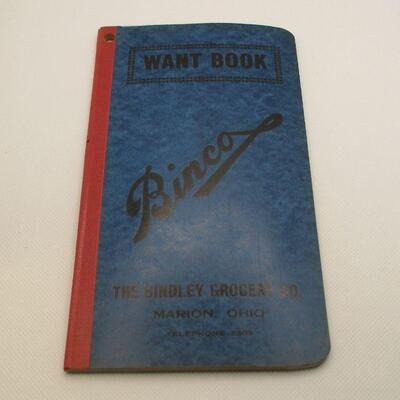 Lot 28 - Binco Want Book from Bindley Grocery