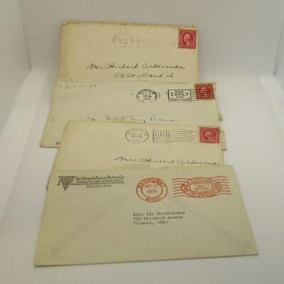 Lot 30 - 17 Envelopes with Cancelled Stamps