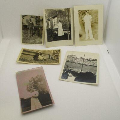 Lot 31 - 6 Vintage Photographs, One Football Game