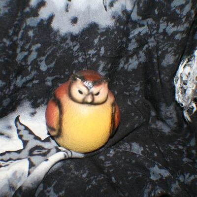 Fat Owl Figurine