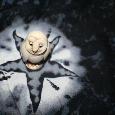 White Owl Figurine