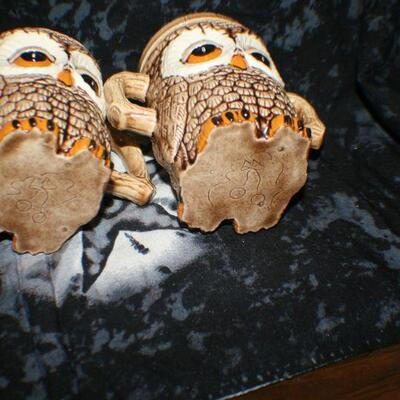 Owl Sugar and Creamer Set