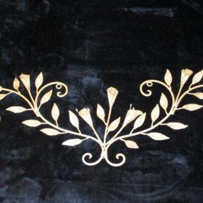 Lot 7 - White Metal Floral Wall Décor LOCAL PICKUP ONLY