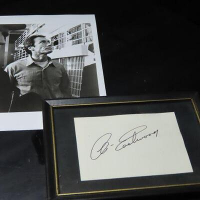 Clint Eastwood photo and autograph