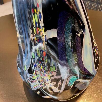 Monumental Rollin Karg signed Studio Art Glass sculpture