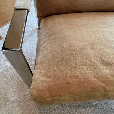 Pair 1970s Milo Baughman Thayer Coggin Lounge Chairs - pristine