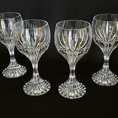 Baccarat set of 4 Massena Crystal Water or Wine Goblets - pristine!