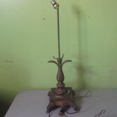 Lot 13 - Vintage Metal Project Lamp