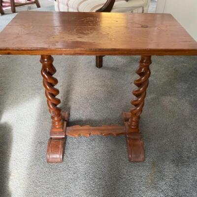 107 Barley Twist Table Walnut Table with Butterfly Joints