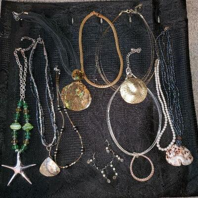 Costume Jewelry Lot  (#2) - 10 necklaces Shell Starfish