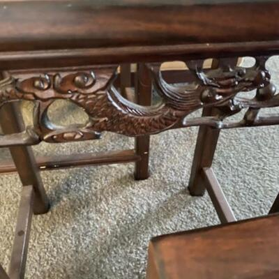 130 Set of 3 Asian Style Nesting Tables