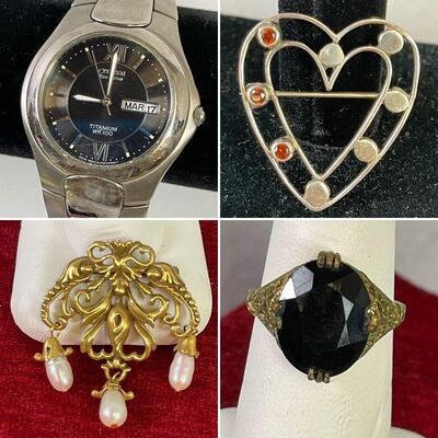 14K Gold Mothers Ring Various Gem Stones 9.9 grams