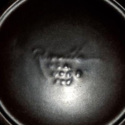 Vintage Roseville Pottery Pinecone Jardeniere Planter and Pedestal signed marked (item #25)