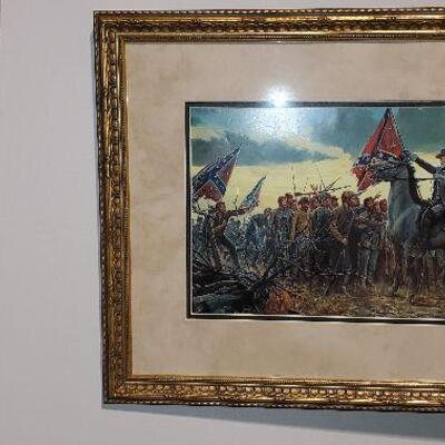 Civil War Framed Print Lee on a Horse (item #27)