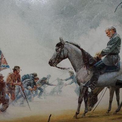 Civil War Framed Print - Lee on Horse  (item #29)