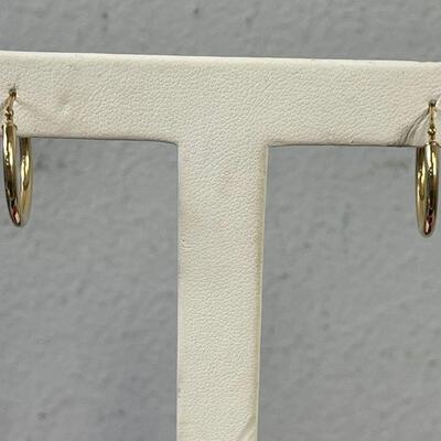 #12 Gold Hoop Earrings 14 K .09 g