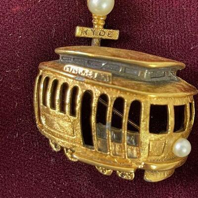 #15 Tortolani Street Car Pin VINTAGE
