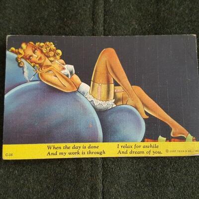 Vintage Linen Girly Postcards