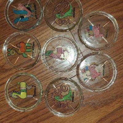 8 Vintage coasters with Animals (item #38)