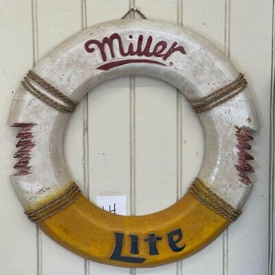 Lot 14 Lrg. Miller Lite Boat Life Preserver Ring Decor