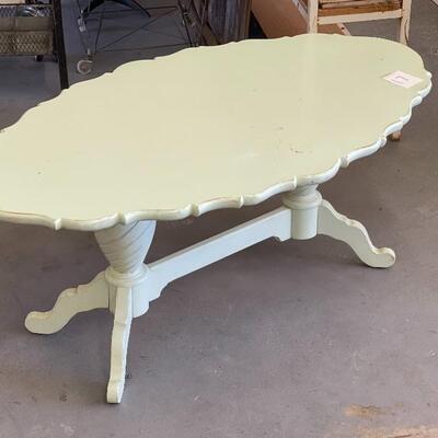 Lot 17 Ornate Sage Coffee Table 48x20x28