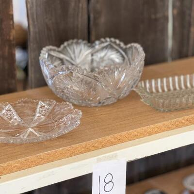 Lot 18 Lead Crystal Pieces & More