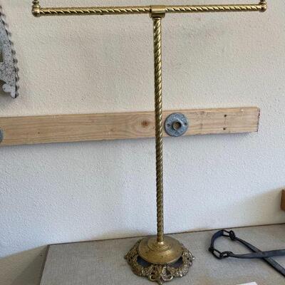 Lot 24 Lrg. Vintage Brass Towel/Quilt Stand