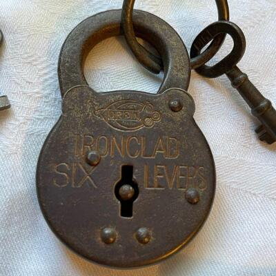 Ironclad six lever padlock & key