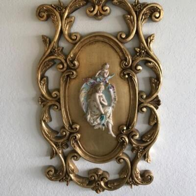 Set of 3 Italian-style Rococo Gold Gilt Victorian Romance 3D Wall Art Plaques/ Sconces YD#022-0012