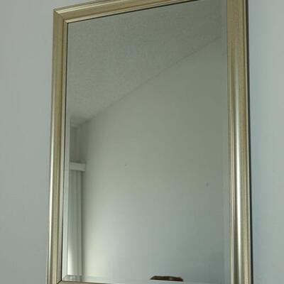 Large Rectangular Light Gold Framed Mirror YD#022-0013