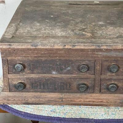 Coats Antique 4 drawer spool cabinet