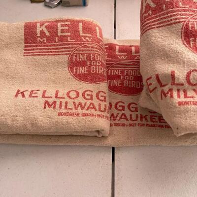 Kellog canvas Seed Bags