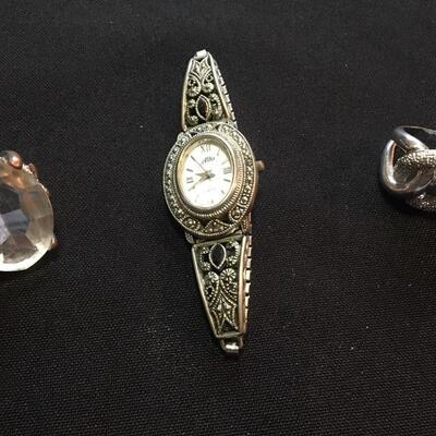 3 piece Costume Jewelry Lot with Watch