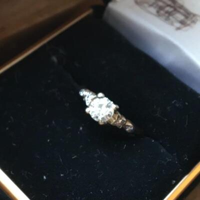 Antique Diamond Solitaire Engagement Ring 14k Yellow Gold Size 5.5