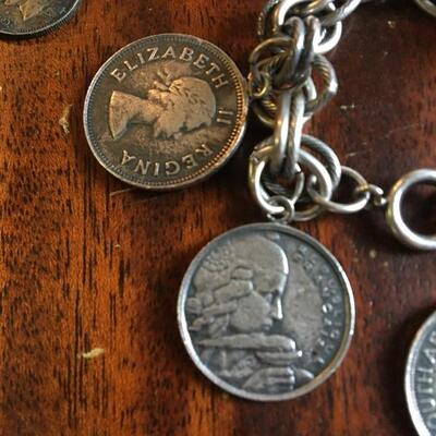 Vintage Silver Coin Bracelet and Coins 50g