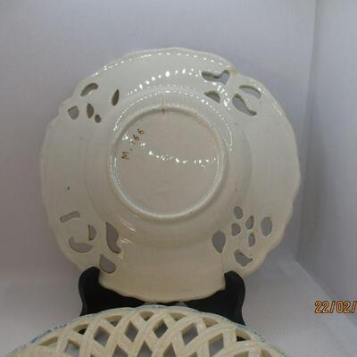 Lot 16 - (2) Reticulated Plates Made in Italy